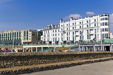King's Road Arches and seaside esplanade, Brighton, East Sussex, England, United Kingdom, Europe