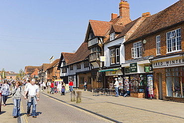 Henley Street, Stratford-upon-Avon, Warwickshire, England, United Kingdom, Europe
