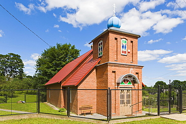 Dagdas Pokrova Nikolaja vecticibnieku baznica, Dagda Old Believers Church of Intercession of Nikolai, Ludzas iela, Ludza Street, Dagda, Kraslava District, Latgale, Latvia, Northern Europe