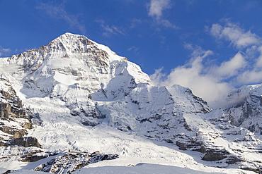 Moench mountain, north face, Grindelwald, Bernese Oberland region, canton of Bern, Switzerland, Europe