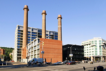 Tres Xemeneies, The 3 Towers, Edificio FECSA-Endesa building Av.Paral.lel 51 in Barcelona, Spain, Europe