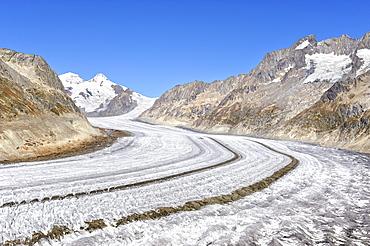 The Aletsch Glacier, Canton of Valais, Switzerland, Europe