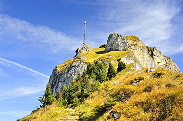 The peak of Mt. Hoher Kasten in the Appenzell Alps, Appenzell Inner-Rhodes, Switzerland, Europe