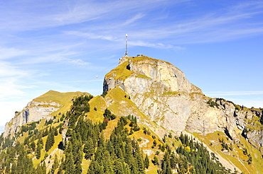 Mt. Hoher Kasten, right Mt. Kamor in the Appenzell Alps, Appenzell Inner-Rhodes, Switzerland, Europe