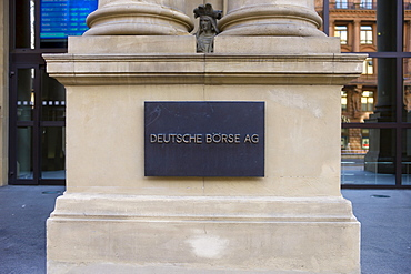 Frankfurt Stock Exchange, Deutsche Boerse Stock Exchange AG, Frankfurt, Hessen, Germany, Europe