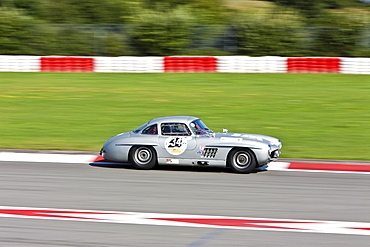 Race of post-war racing cars, Mercedes 300 SL, at the Oldtimer Grand Prix 2010 on the Nurburgring race track, Rhineland-Palatinate, Germany, Europe