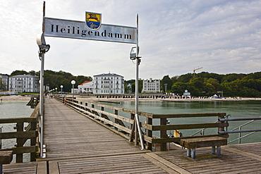 Grand Hotel Heiligendamm, pier, Heiligendamm, Mecklenburg-Western Pomerania, Baltic Sea, Germany, Europe