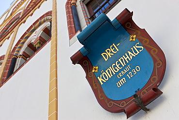 Drei Koenigenhaus, Epiphany House, early Gothic residential building, Hauptmarkt square, Trier, Rhineland-Palatinate, Germany, Europe