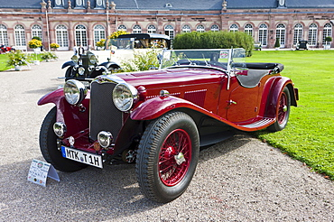 AutoCarrier AC Tourer 4-Seater Sports Tourer, built in 1934, GB, Classic-Gala, Concours d'Elegance in the Baroque castle gardens, Schwetzingen, Baden-Wuerttemberg, Germany, Europe