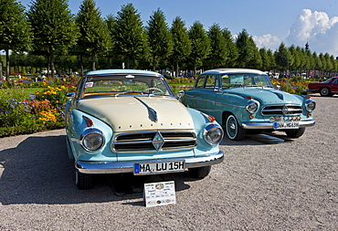 Borgward Isabella Coupe, built in 1960, Germany, Classic-Gala, Concours d'Elegance in the Baroque castle gardens, Schwetzingen, Baden-Wuerttemberg, Germany, Europe