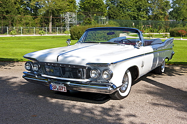 Imperial Crown Convertible, built in 1961, USA, Classic-Gala, Concours d'Elegance in the Baroque castle gardens, Schwetzingen, Baden-Wuerttemberg, Germany, Europe