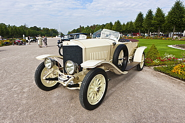 Mercedes model 22 50, built in 1914, Germany, Classic-Gala, Concours d'Elegance in the Baroque castle gardens, Schwetzingen, Baden-Wuerttemberg, Germany, Europe