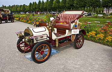 Le Zebre A4, built in 1909, Classic-Gala, Concours d'Elegance in the Baroque castle gardens, Schwetzingen, Baden-Wuerttemberg, Germany, Europe