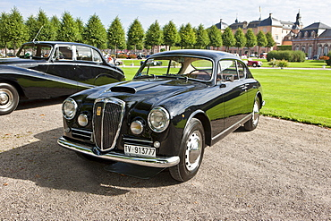 Lancia Aurelia B20, built in 1956, Italy, Classic-Gala, Concours d'Elegance in the Baroque castle gardens, Schwetzingen, Baden-Wuerttemberg, Germany, Europe