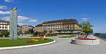 Hotel Beau Rivage, Quai Philippe Godet, Neuchatel, Lake Neuchatel, Switzerland, Europe