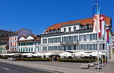 Angleterre and Residence Hotel, Lausanne, canton of Vaud, Lake Geneva, Switzerland, Europe