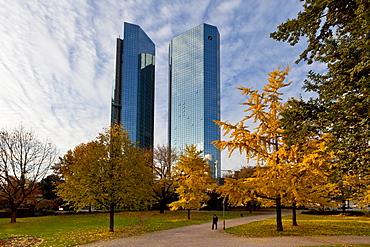 Deutsche Bank, autumn, Frankfurt am Main, Hesse, Germany, Europe