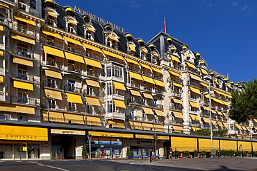 Hotel Montreux Palace, a first class hotel, Montreux, Vevey, Lake Geneva, canton of Vaud, Switzerland, Europe