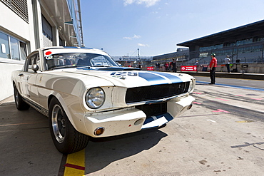 Ford Mustang, pit lane, Oldtimer Grand Prix 2010 at Nuerburgring race track, a classic car race, Rhineland-Palatinate, Germany, Europe