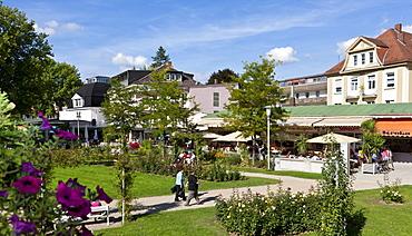 Kurpark garden and Rosengarten garden, Bad Kissingen, Lower Franconia, Bavaria, Germany, Europe