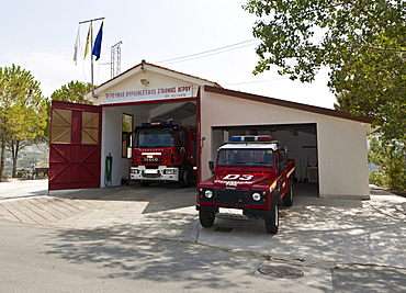 Fire station, Agros, Troodos Mountains, Central Cyprus