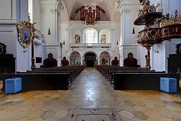 Schutzengelkirche, Guardian Angel Church, Residenzplatz square, Eichstaett, Altmuehltal valley, Upper Bavaria, Bavaria, Germany, Europe
