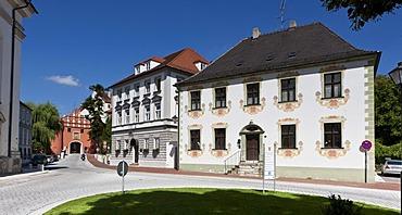 Oberes Tor gate, historic district, Neuburg an der Donau, Bavaria, Germany, Europe