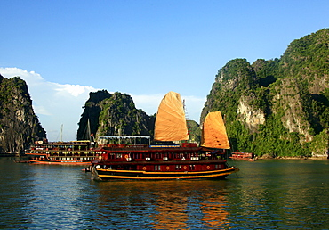 Halong Bay, Unesco World Heritage Site, North Vietnam, Vietnam, Asia
