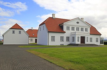 Bessastadir building, the official residence of the president of Iceland, Iceland, Europe