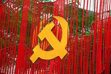 Hammer and Sickle symbols, Ho Chi Minh City, Saigon, South Vietnam, Vietnam, Asia