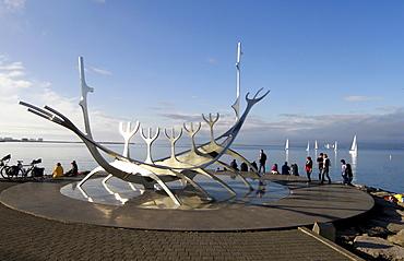 Sun Voyager sculpture, Solfar sculpture, Reykjavik, Iceland, Europe