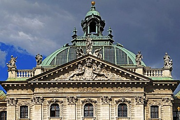 Gable of the Palace of Justice, 1891-1897, Prielmayerstrasse 7, Munich, Bavaria, Germany, Europe