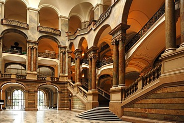 Detail of the atrium, Palace of Justice, 1891-1897, Prielmayerstrasse 7, Munich, Bavaria, Germany, Europe