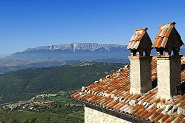 Roccacalascio Hotel, Gran Sasso National Park, Abruzzo, Italy, Europe
