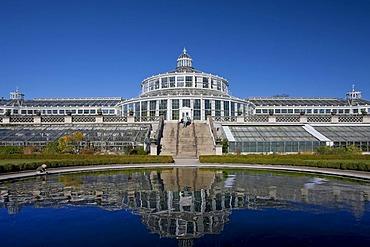 The Palm House in the Botanical Garden in Copenhagen, Denmark, Europe