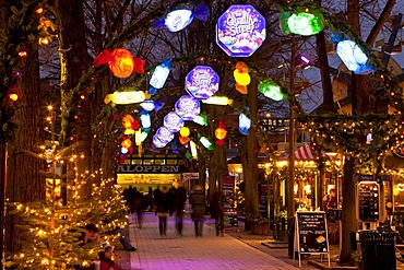 Quality Street, Christmas decoration, Tivoli, Copenhagen, Denmark, Europe