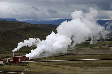 Krafla Geothermal Power Plant, Iceland, Europe