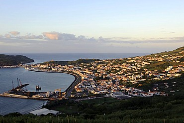 View of Horta on Faial island, Azores, Portugal