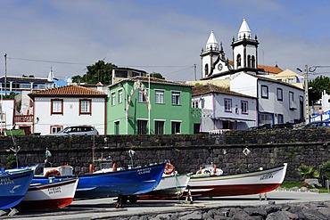 Port of Sao Mateus de Calheta on the island of Terceira, Azores, Portugal