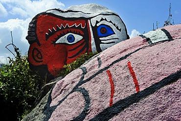 Rock art near Orgosolo, Province of Nuoro, Inner Sardinia, Italy, Europe