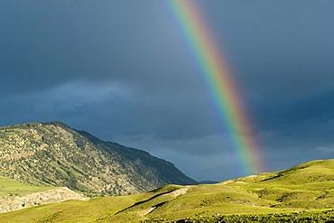Rainbow at Gardiner, Montana, USA, North America