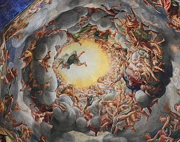 Ascension, fresco by Correggio in the dome of the Cathedral of Parma, Emilia Romagna, Italy, Europe