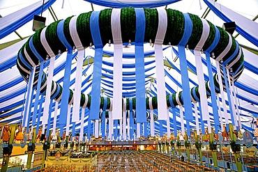 Oktoberfest tent, Spatenbraeu, Munich, Bavaria, Germany, Europe