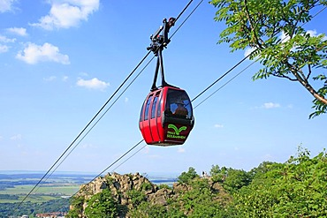 Cable car from Thale to Hexentanzplatz plateau, Eastern Harz, Saxony-Anhalt, Germany, Europe