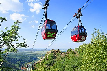 Cable car from Thale to Hexentanzplatz, the witches' dancing place, Eastern Harz, Saxony-Anhalt, Germany, Europe