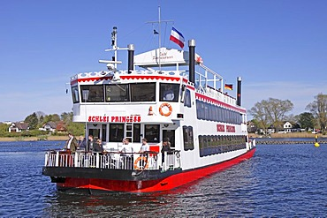 Paddlesteamer, Schlei Princess, Kappeln, Schlei Inlet, Schleswig-Holstein, Germany, Europe