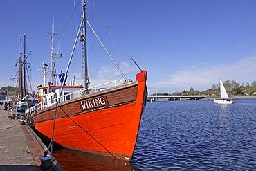 Boat, port, Kappeln, Schlei Inlet, Schleswig-Holstein, Germany, Europe