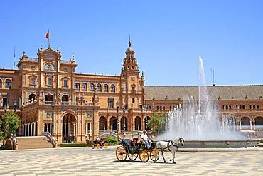 Plaza de Espana, Sevilla, Andalucia, Andalusia, Southern Spain, Europe