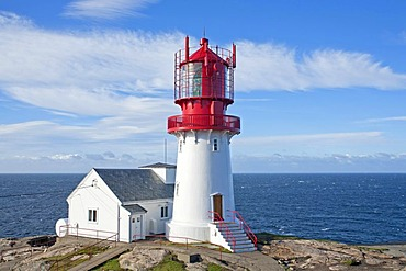 Lighthouse at Lindesnes, the most Southern point of Norway, Scandinavia, Europe