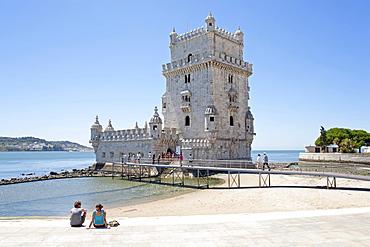 Torre de Belem, Belem Tower, Lisbon, Portugal, Europe